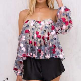 Off Shoulder Bustier Top