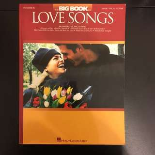 The Big Book Of Love Songs - 2nd Edition, Piano, Vocal, Guitar Music Sheets
