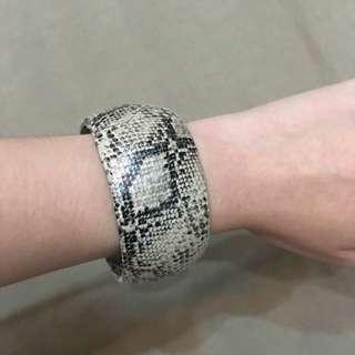 Snake Skin Embossed Bracelet