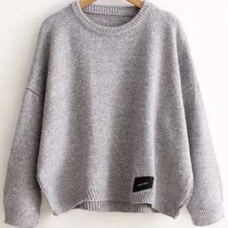 grey warm jumper