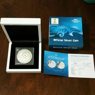 2014 Fifa World Cup Brazil Silver Coin (With Cert)