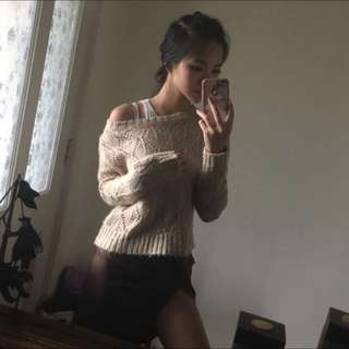 Warm Crop Knitted Sweater