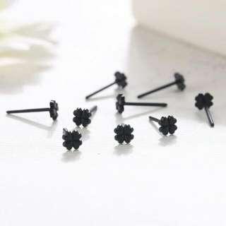 Four Leaf Clover Plastic Ear Studs/Earrings