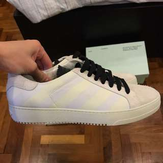 Off White Brushed Diagonals Shoes