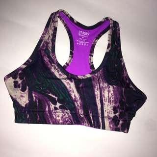 Vogo Purple Abstract Sport Bra