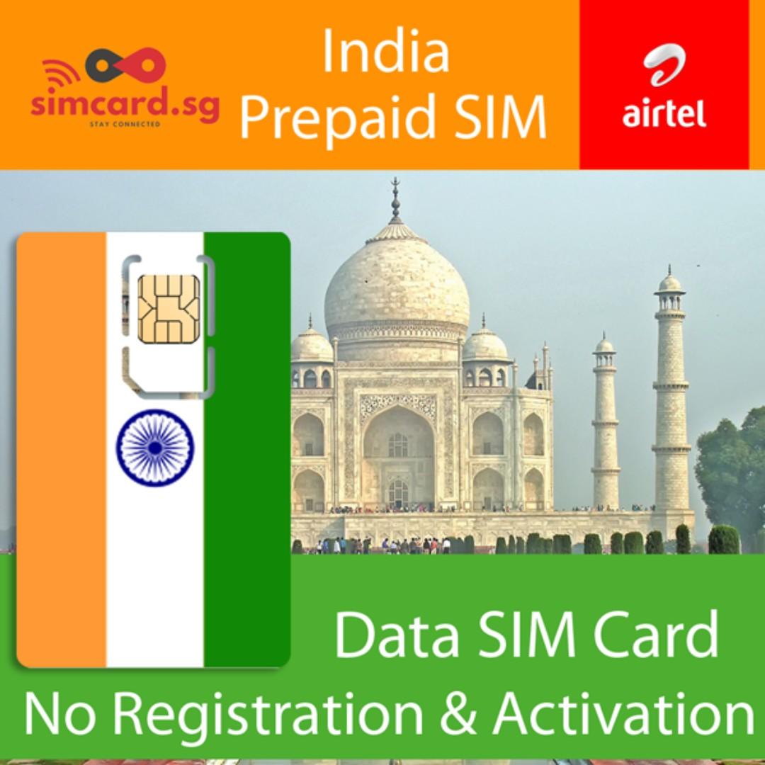 🇮🇳 India Prepaid SIM Card (Data Only)