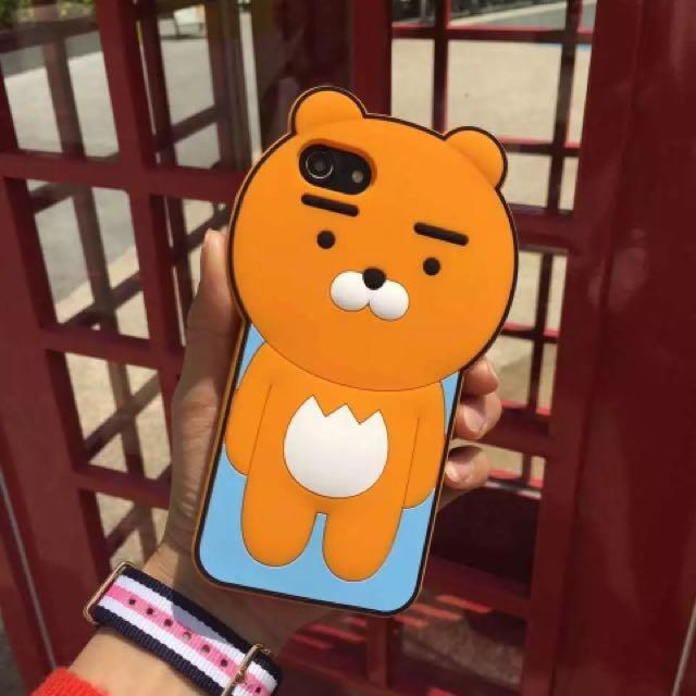 部分現貨❤️ iPhone 7/6/6s/plus 立體手機殼 保護套 軟殼 矽膠 熊獅 萊恩 Ryan kakao