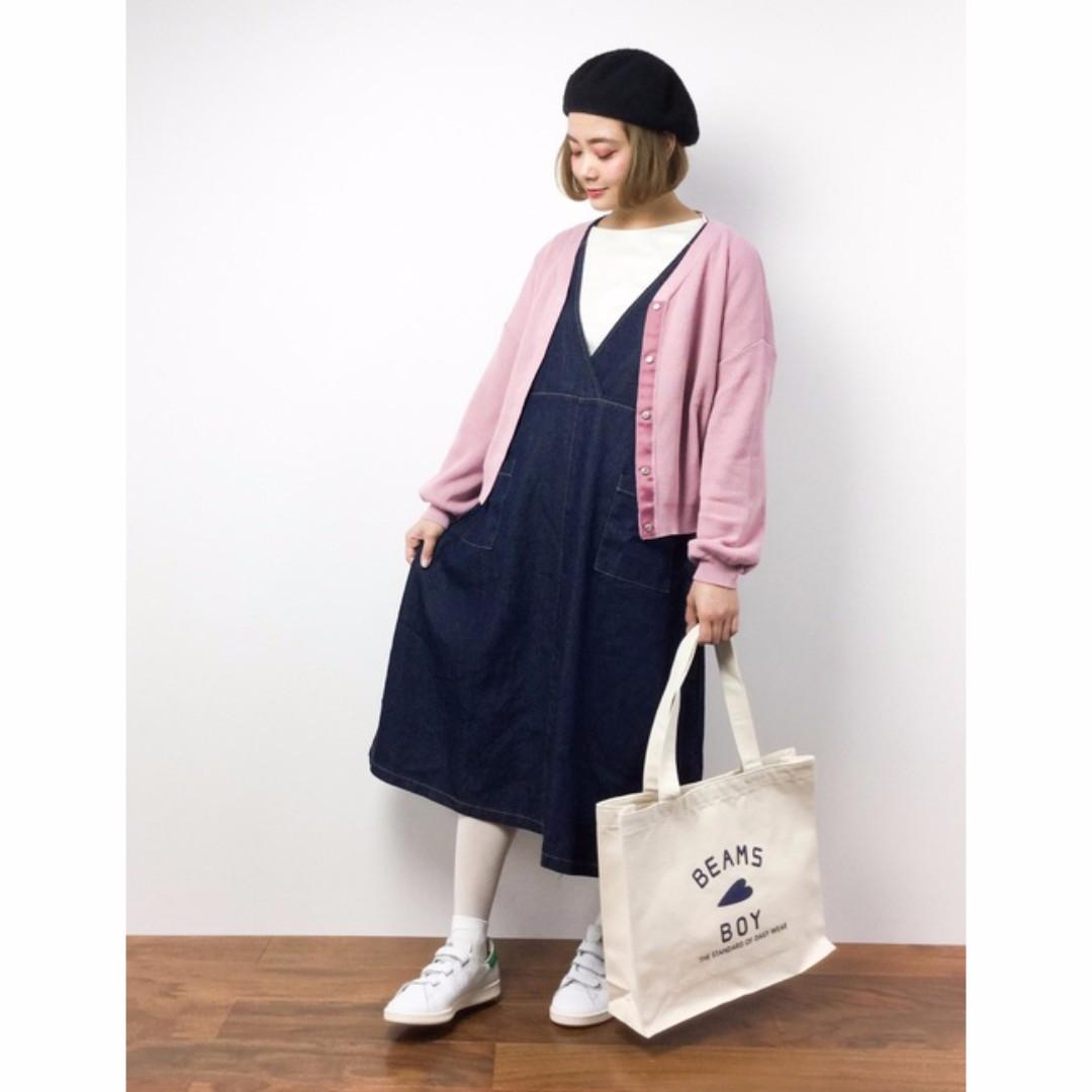 日本購入 日本品牌merlot牛仔背心洋裝 全新