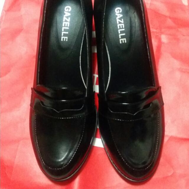 黑色樂福跟鞋 適合OL 上班族 學院風