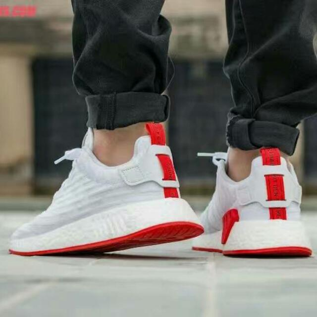 pretty nice 40be8 60478 adidas Nmd R2 PK White/red 36-44