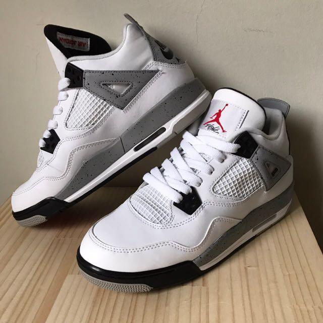 可議價❤️四代AIR Jordan 白水泥