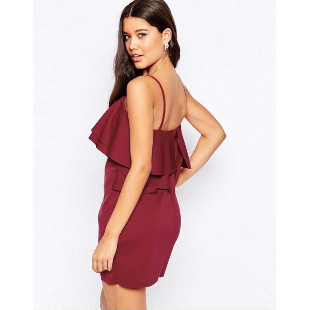 ASOS Layered Red Mini Dress