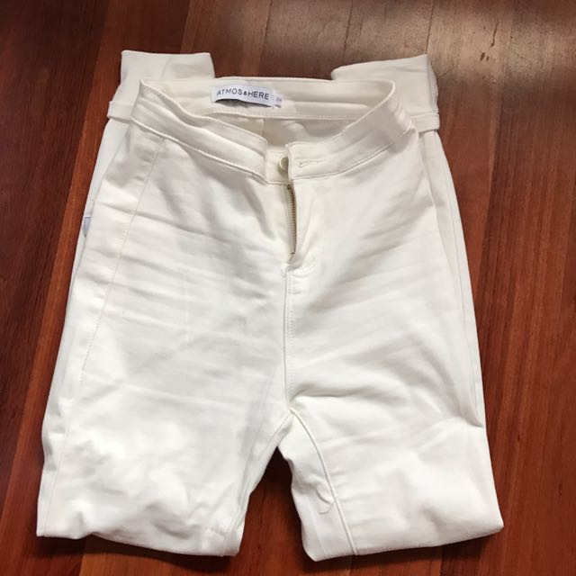 ATMOS&HERE WHITE JEANS