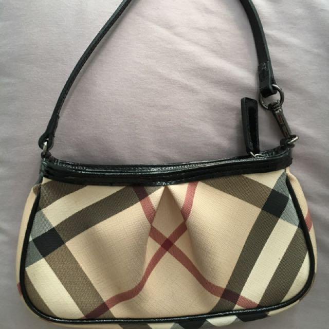 Authentic Burberry Small Aston Handbag