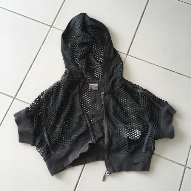 Authentic Nike Cropped Net Hoodie
