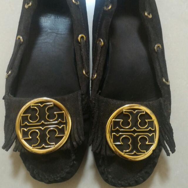 Authentic Tory Burch Fringe Suede Leather Loafer