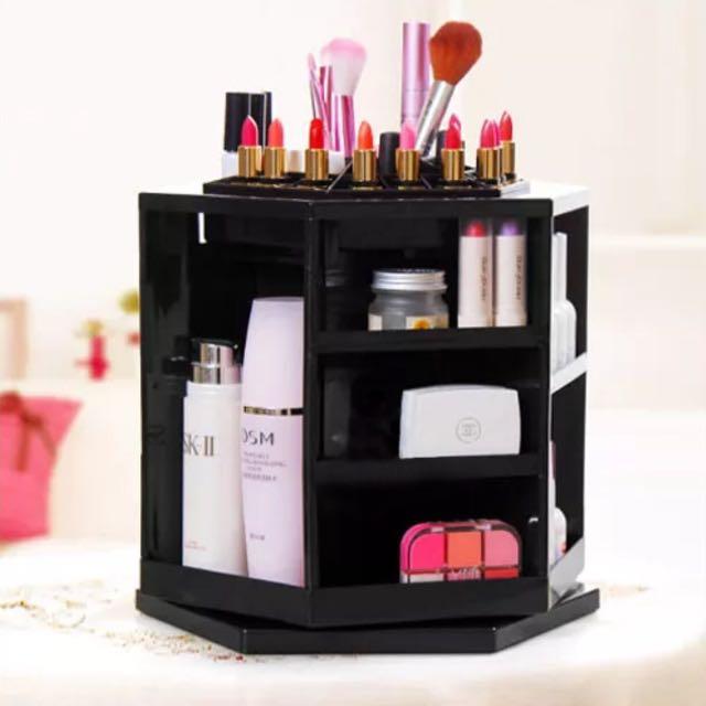 BLACK 360 Makeup Organiser Storage