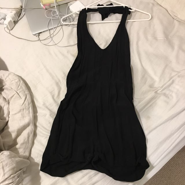 black backless jumpsuit- brand is 'tigerlily' size 8