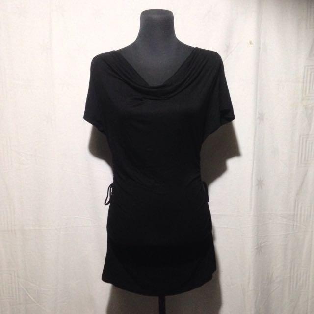 BLACK BODY-CON DRESS