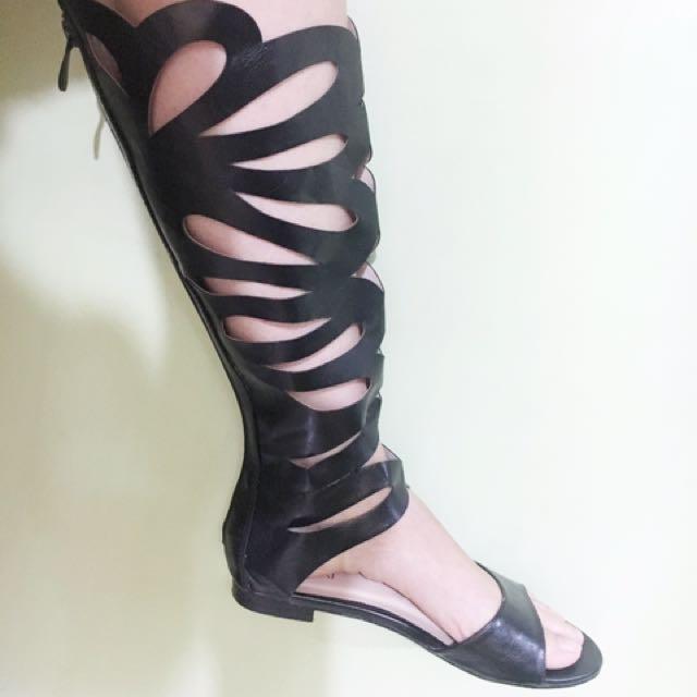 Black High Sandals