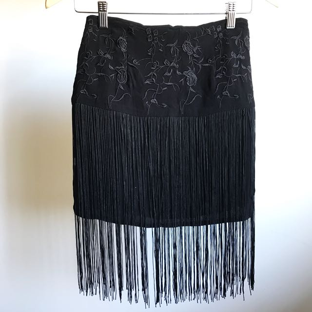 Black Tassel Skirt