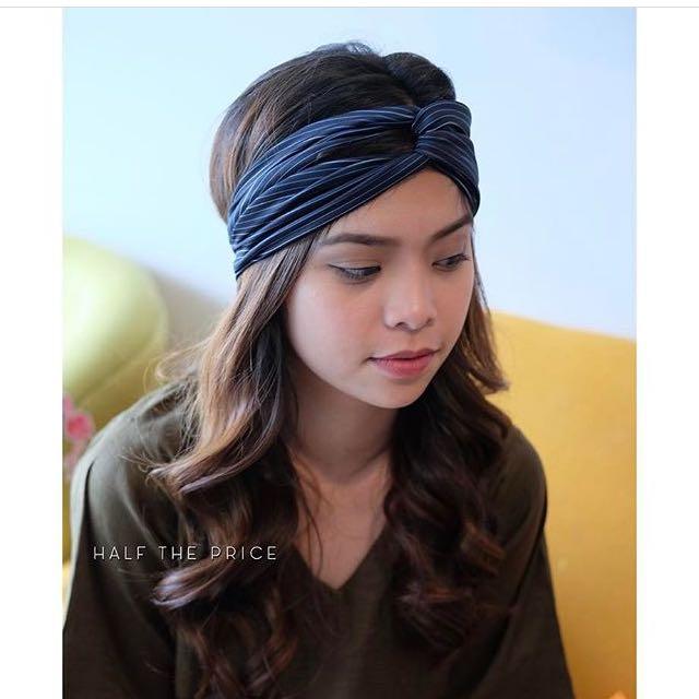 Blue Striped Turban