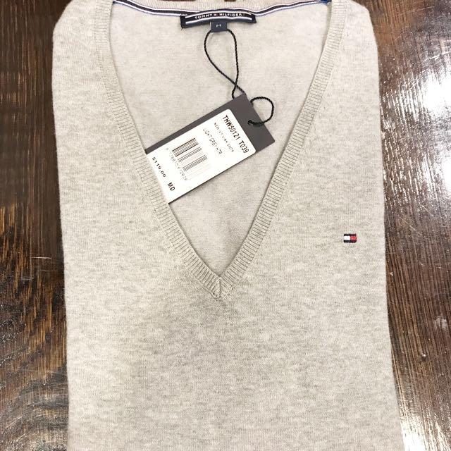 Brand New Tommy Sweater V Neck