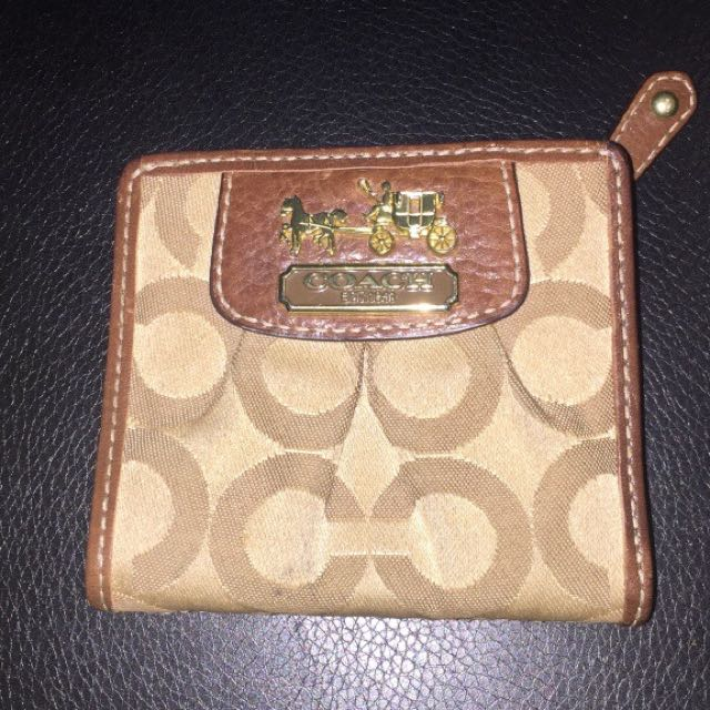 Brown Mini Coach Wallet