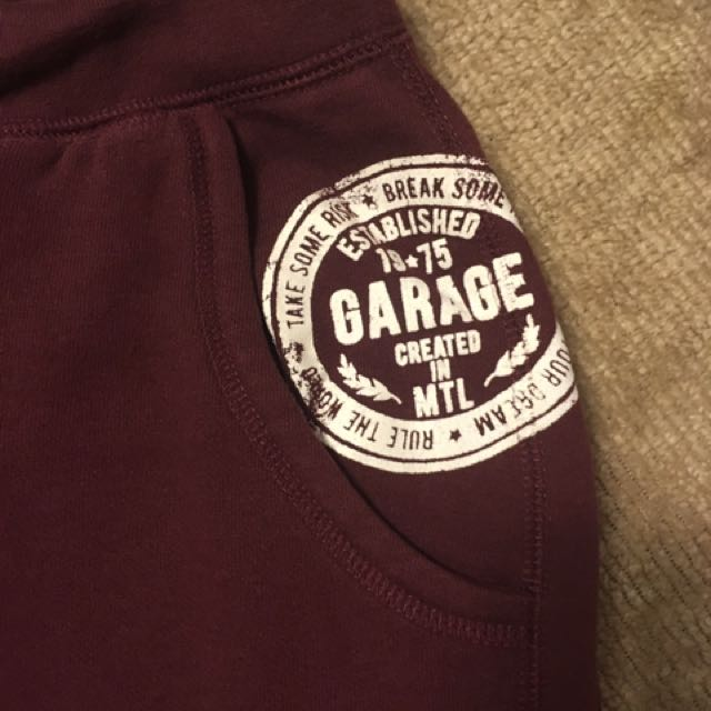 Burgundy Garage Sweatpants