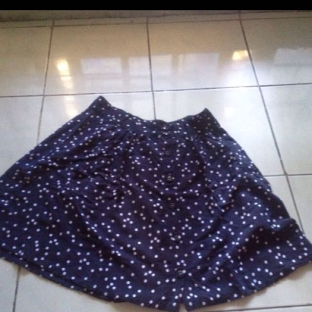 Cotton On Navy Polkadot Skirt