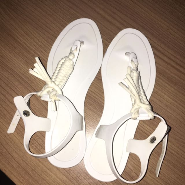 Country Road White Sandals