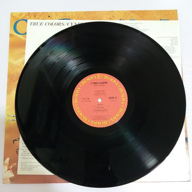 CYNDI LAUPER《TRUE COLORS》 黑膠唱片 95%新