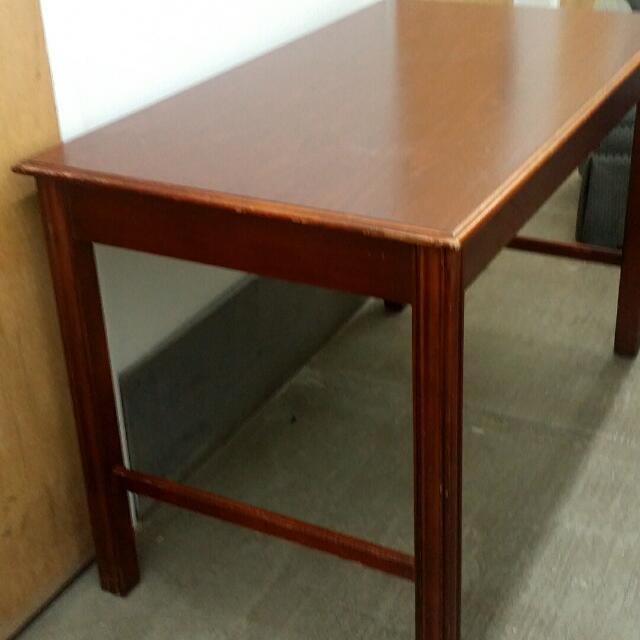 Dark Finish Long Table