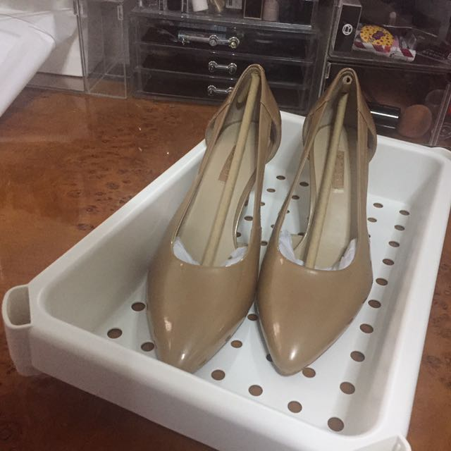 ecco sling shoes nude