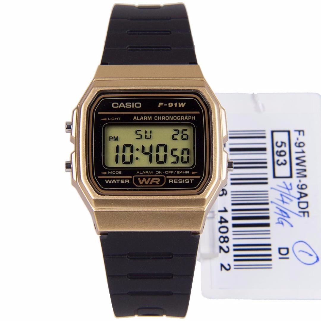 b4a6e14743a1 F-91WM-9ADF F-91WM-9AD F-91WM-9A F-91WM-9 Brand New Casio Quartz Digital  100% Original Alarm Day Date Auto Calendar Mens Casual Watch w  Warranty