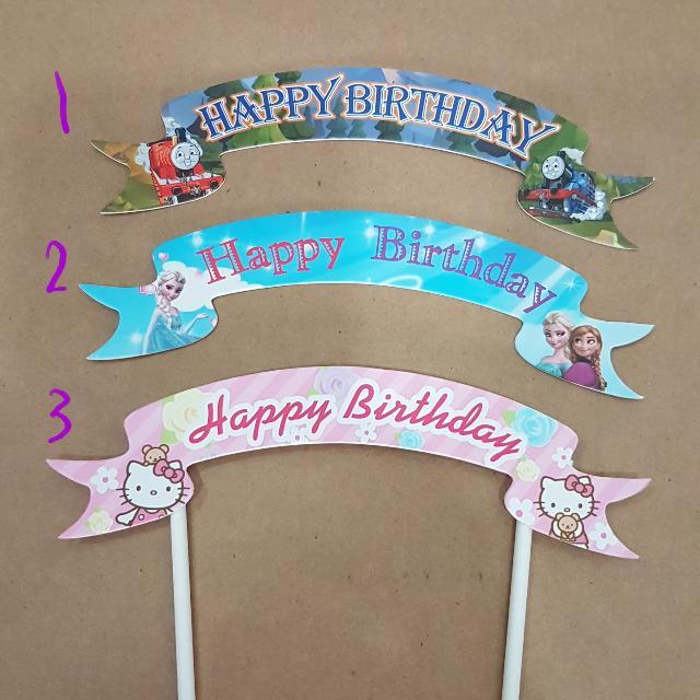 d0985ba60 Flag Happy Birthday Thomas & Train, Frozen, Hello Kitty Cake Topper ...