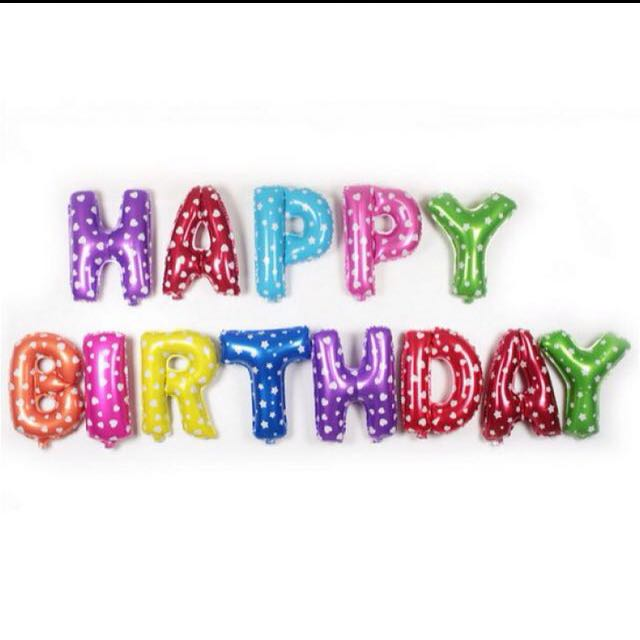 FOIL BALLOON LETTERS (HAPPY BIRTDAY)