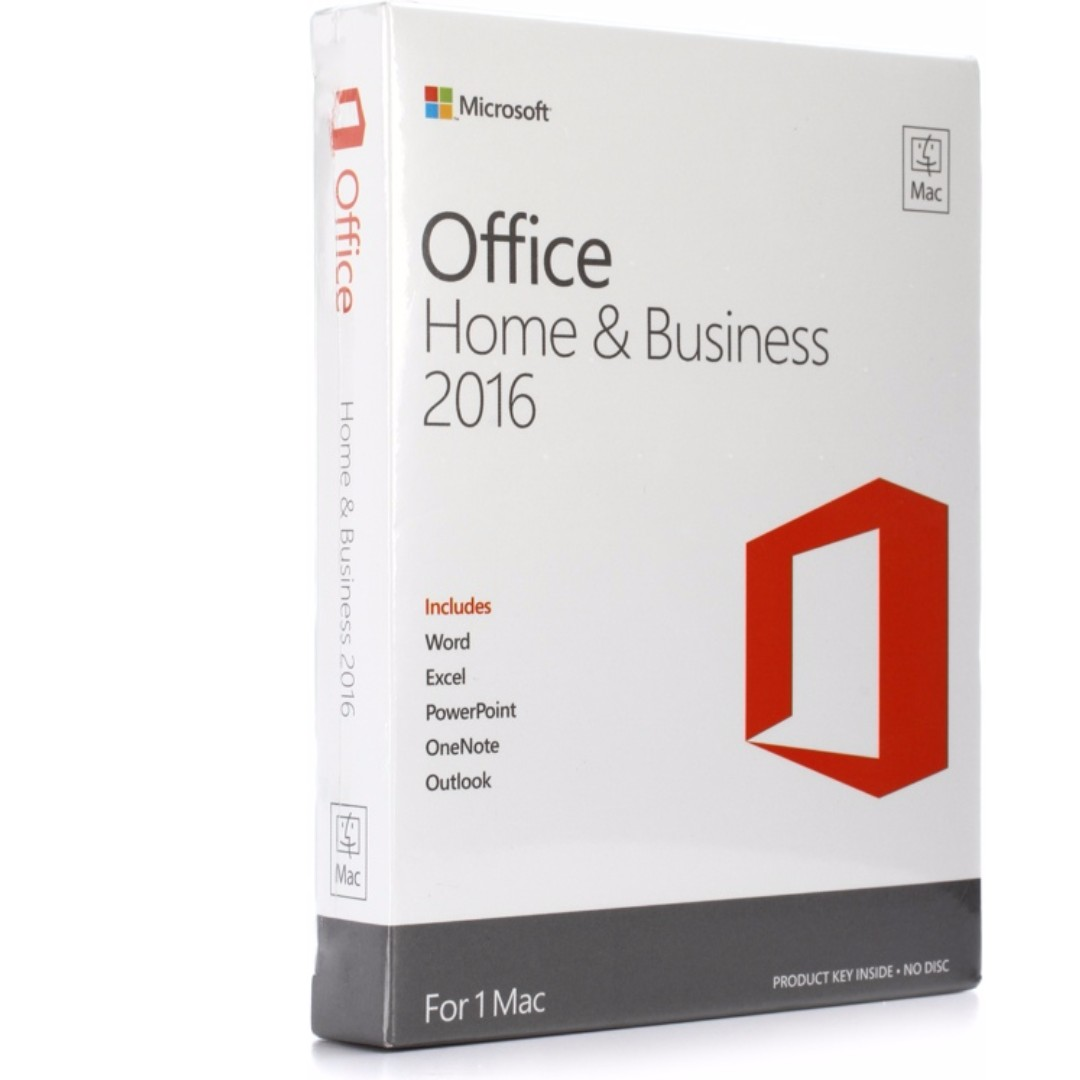 (FOR MAC)Microsoft Office Home and Business 2016