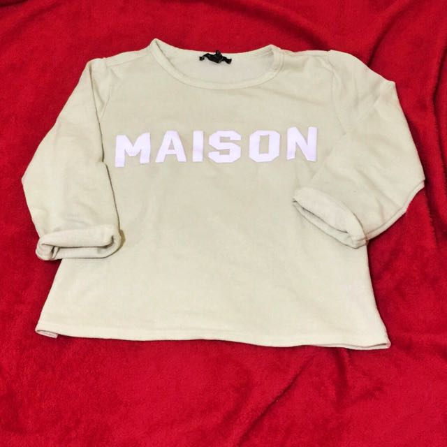"""FOREVER 21 """"MAISON"""" MINT GREEN 3/4'S CROPTOP"""