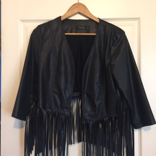 Glassons Faux Leather Tassel Jacket