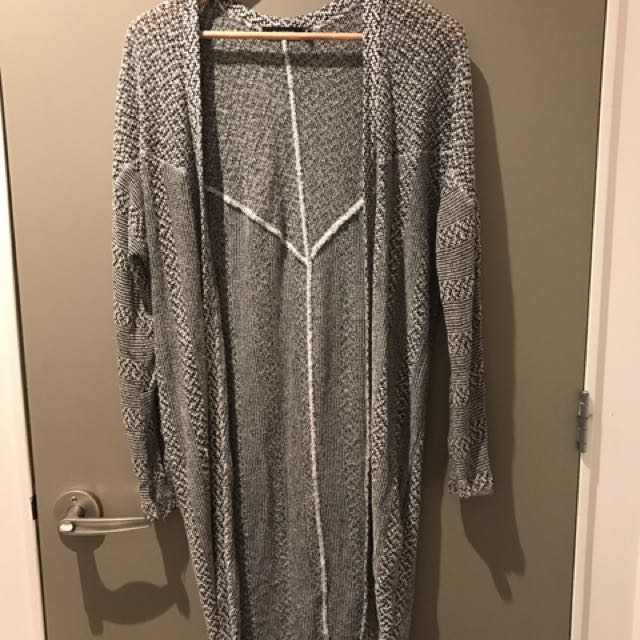 Glassons Long line Grey Marle Batwing Cardi