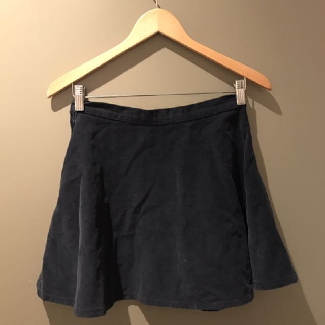 Glassons Navy  Corduroy Skirt