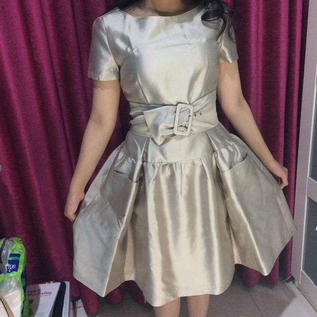PradaTag Gold Maxi Dress DISC 25%