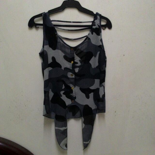 Grey Camo Sleeveless from People are People