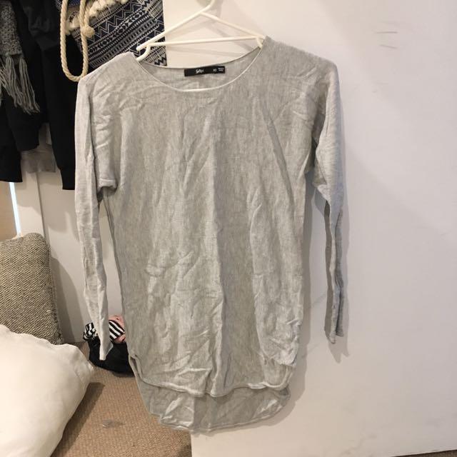 Grey long sleeve- brand is 'sportsgirl' size 6