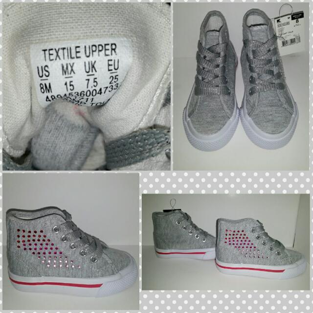 Grey Studded Shoes From US