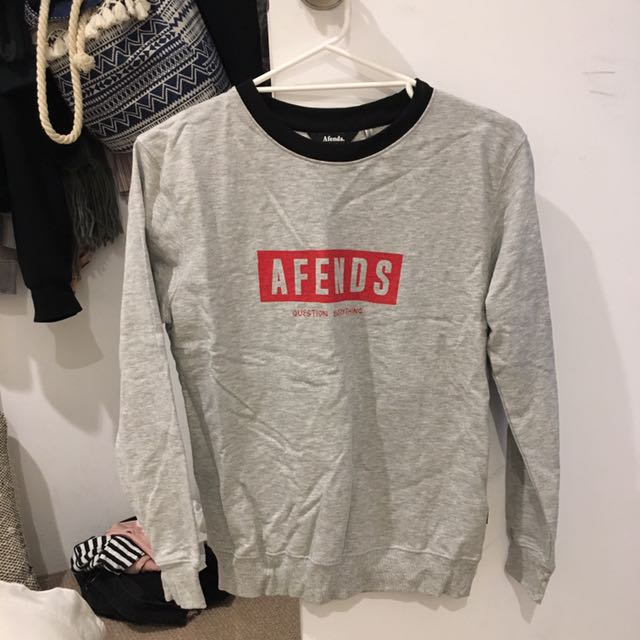 Grey Think longsleeve- brand is 'afends' size 8