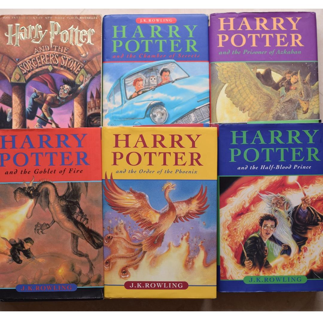 HARRY POTTER HARDCOVER books #1-6 JK Rowling