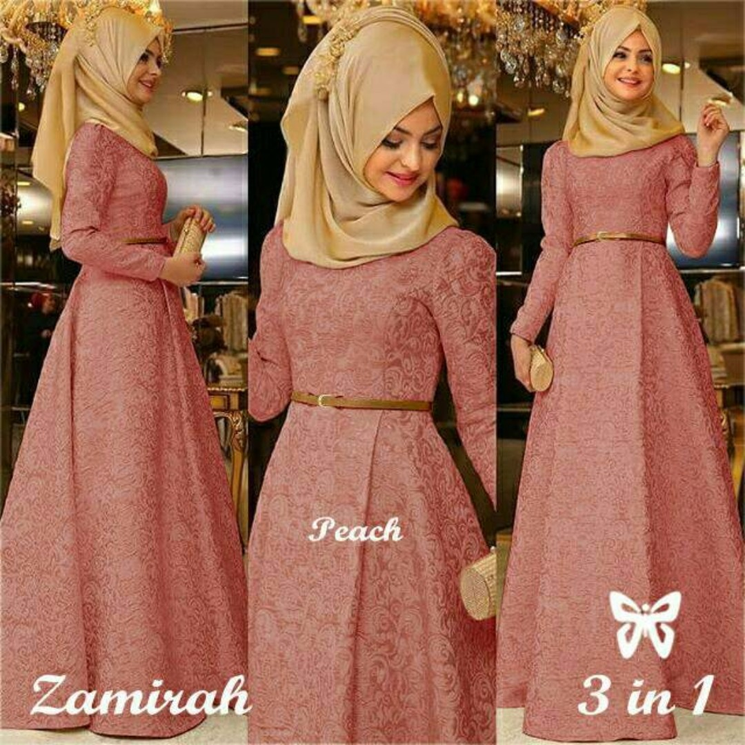 Hijab Maxi Zamirah 3in1 Womens Fashion Muslim On Carousell
