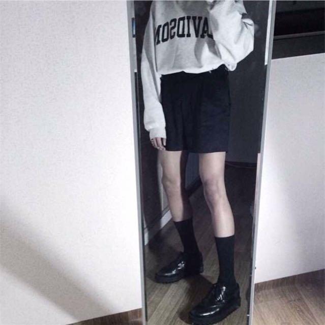 INS studios. 人手一件百搭西褲西裝短褲 2017新款男女裝INS同款